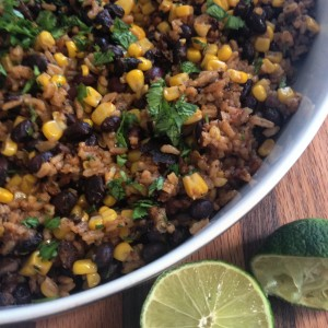 Rice, Black Beans, and Corn