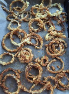 Crispy fried onions for the top