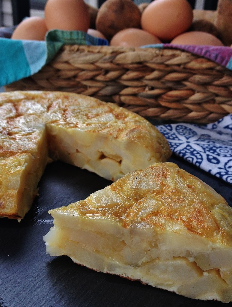 Sliced up tortilla de patatas