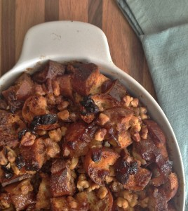 Caramelized Apple and Walnut Bread Pudding