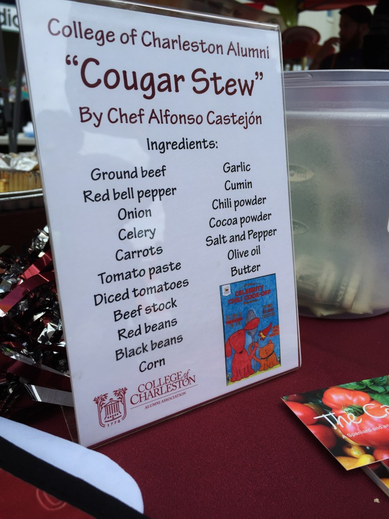 Cougar Stew by Chef Alfonso and our new promotional cards for the blog