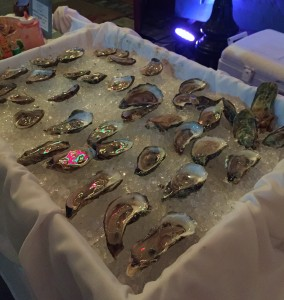 Raw oysters ready to eat