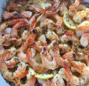 Garlic and Lemon Roasted Shrimp