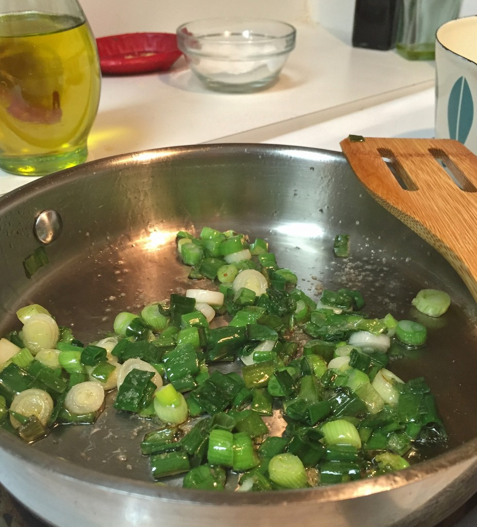 sautéing green onion