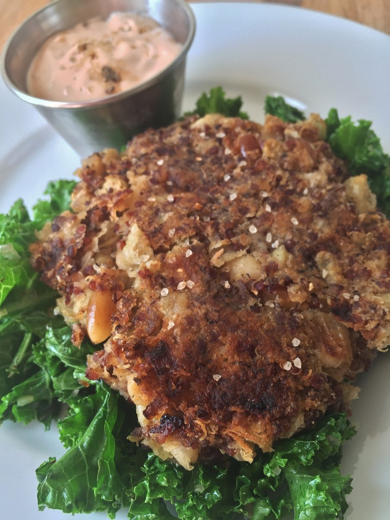 Flageolet Bean and Red Quinoa Patty with Brava Sauce