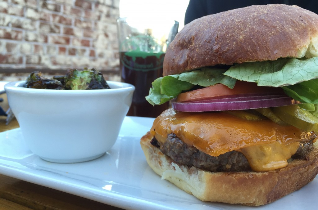 Haus Burger with Fried Brussel Sprouts