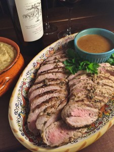 Marinated Pork Tenderloin with Brow Sauce