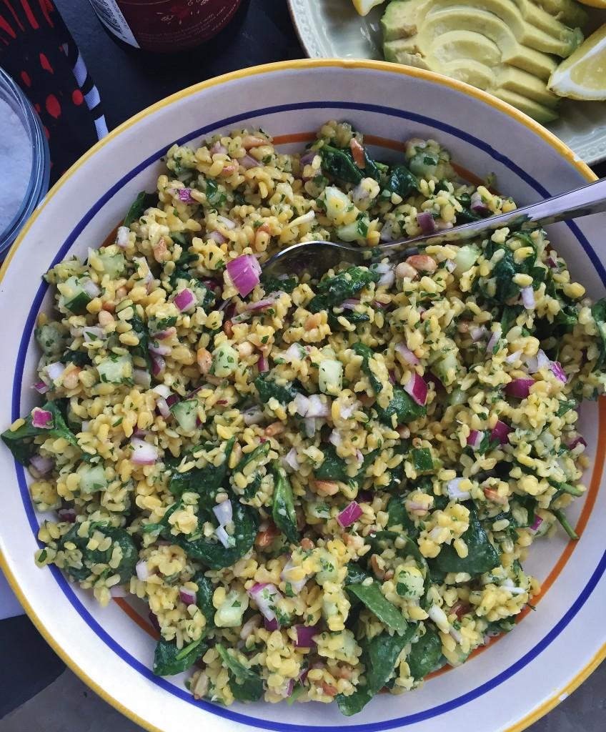 Petite Golden Lentil Salad