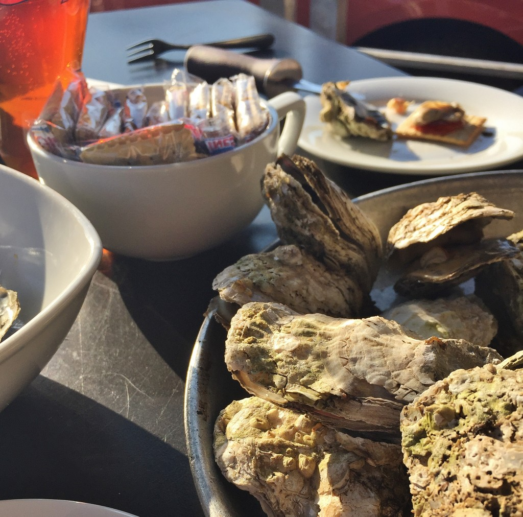 12 juicy oysters