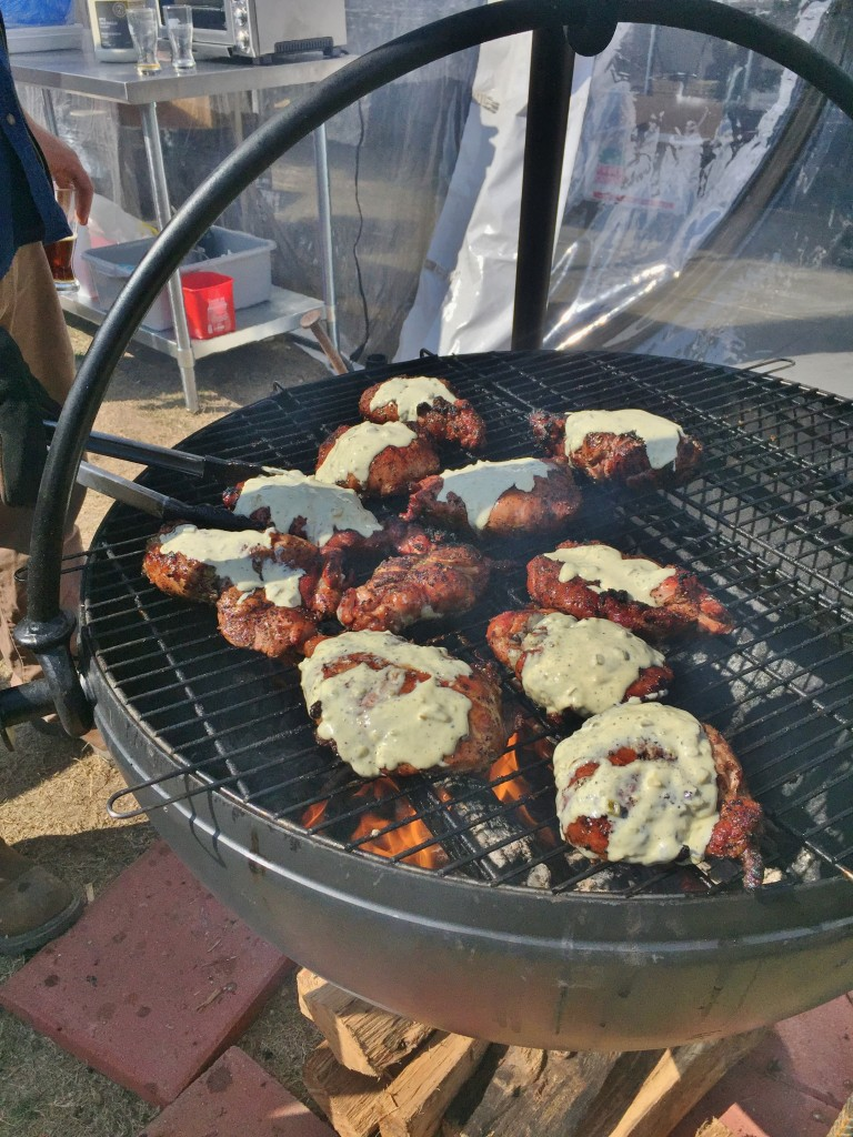 Grilling up sweetbreads!