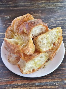 olive oil drizzled bread
