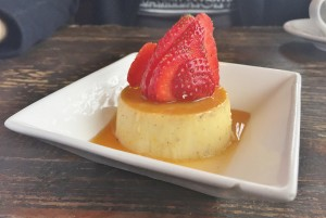 Flan with Strawberries