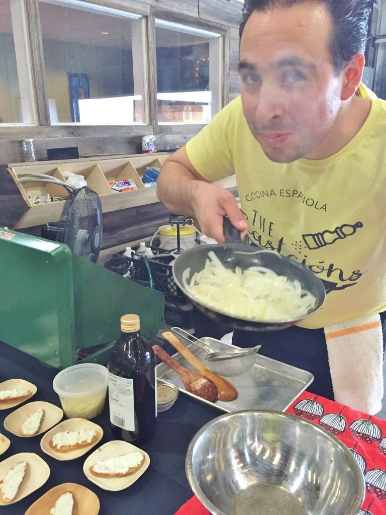 caramelizing those onions