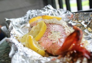 Red Snapper in foil