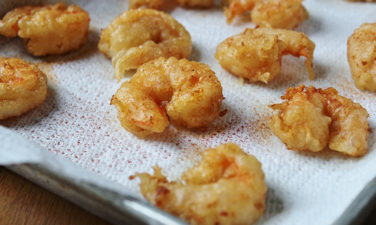 Look at those beautiful, crispy shrimp!