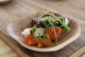 roasted lamb belly with congaree, rice grits, and turnip kimchi- Waylon Rivers from Black Sheep, Jacksonville, FL